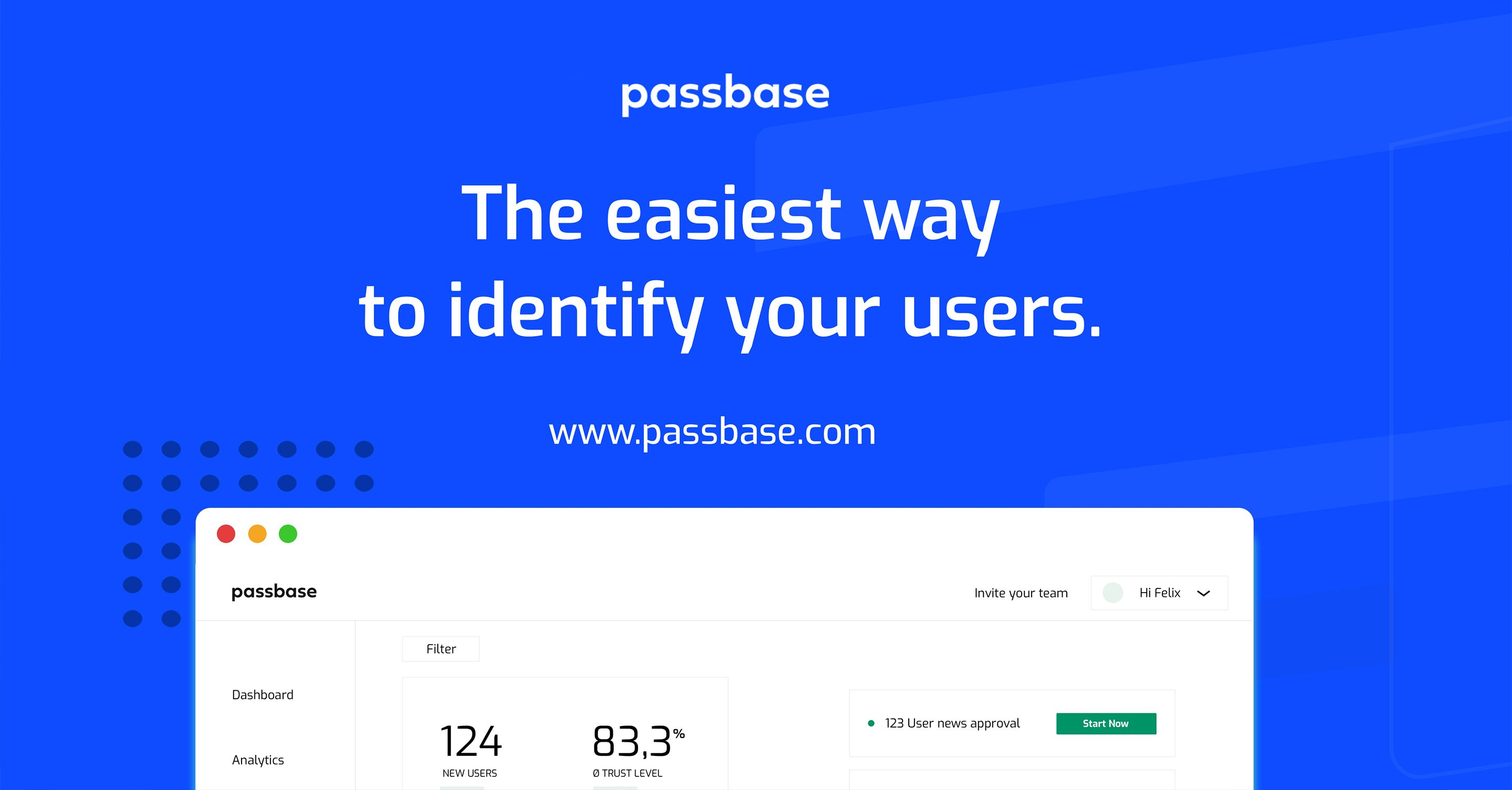 Passbase offers ID verifaction for over 150 countries. Read more passbase.com
