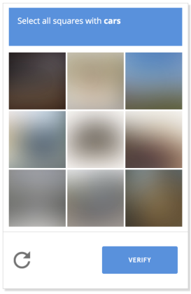 captcha example with blurred images