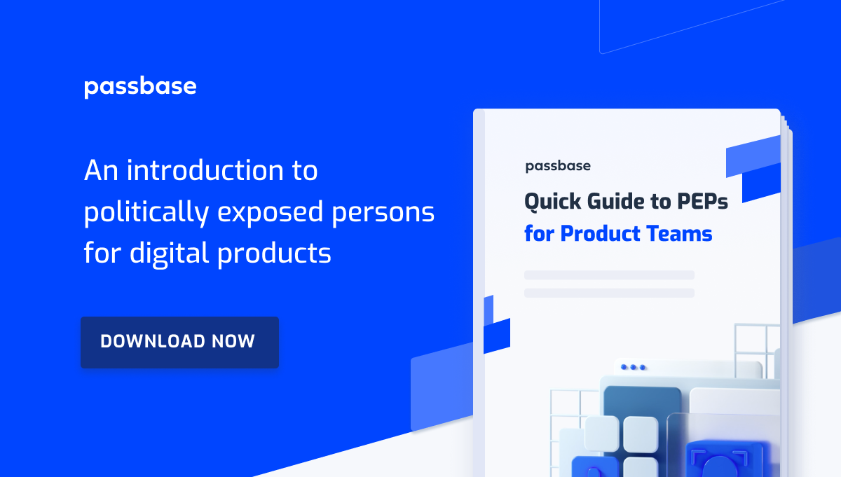 Link to a quick guide to politically exposed persons (PEPs) for product teams download form