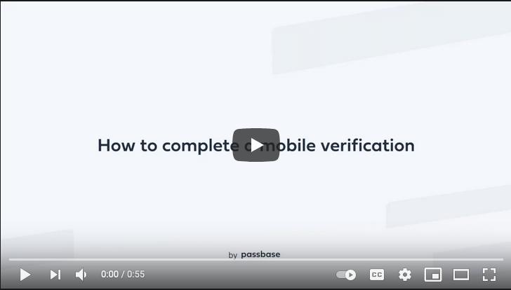 Passbase's Youtube user identity verification demo video on Youtube